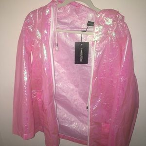 Never been worn holographic pink jacket by plt